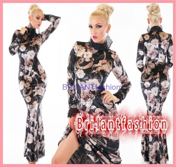488b50762628 Luxusné extravagantné samet šaty-