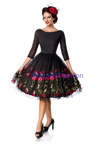 ba73d5f0e405 Vintage kvetinové šaty Premium