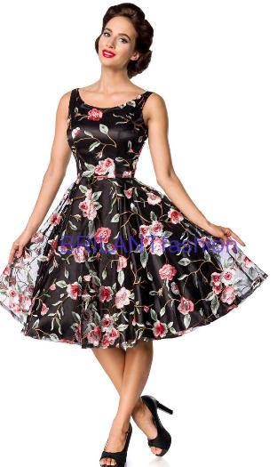 b75264c1236d Belsira Premium Vintage šaty-Vintage kvetinové šaty