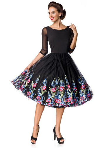 cdf95191a434 Vintage kvetinové šaty empty