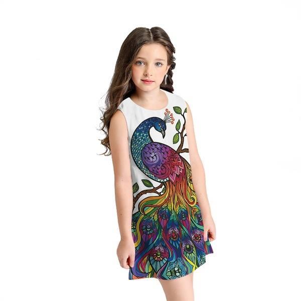 417f61c2422a Krásne šaty pre väčšie parádnice-3D Páv-