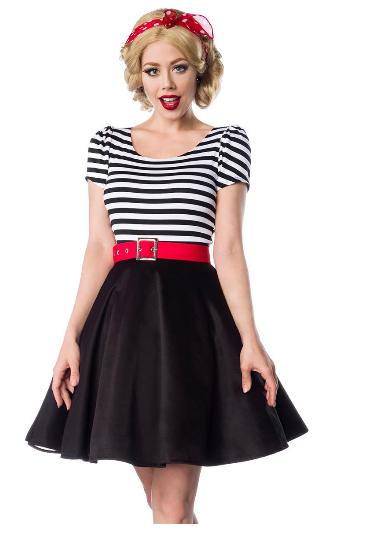 Retro šaty s okrúhlou sukňou a výstrihom do V- empty 4af74891caf